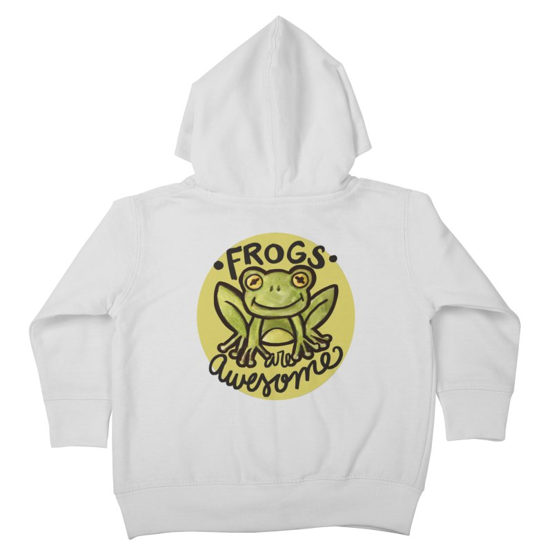 Frogs are awesome Kids Toddler Zip-Up Hoody by BubbSnugg