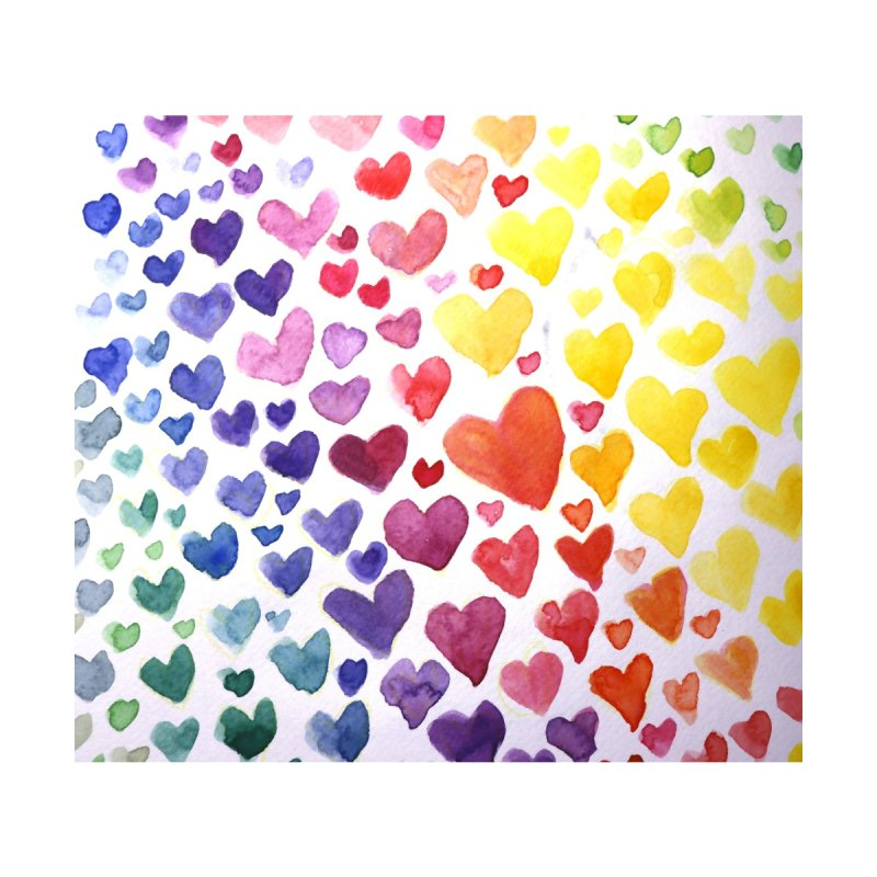 Rainbow Hearts Accessories Greeting Card by BubbSnugg