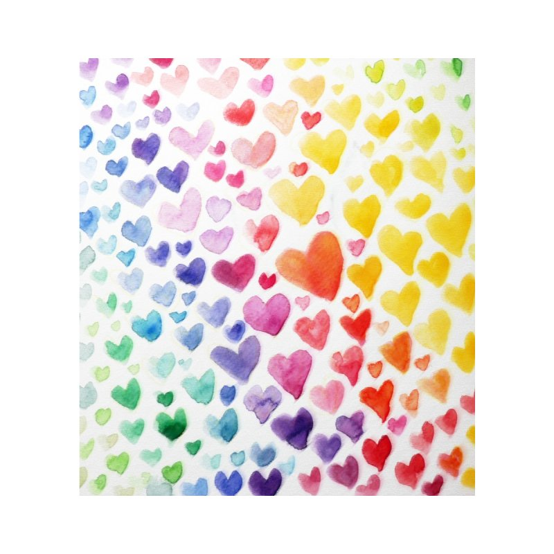 Rainbow Hearts Accessories Bag by BubbSnugg
