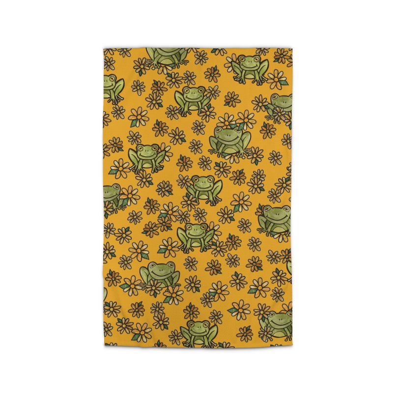 A Frog Smile Pattern Home Rug by BubbSnugg