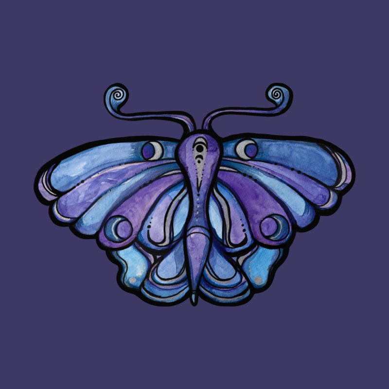 Purple Moth Home Blanket by BubbSnugg