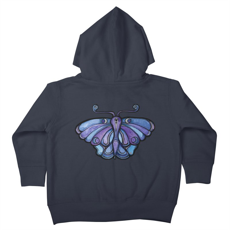 Purple Moth Kids Toddler Zip-Up Hoody by BubbSnugg