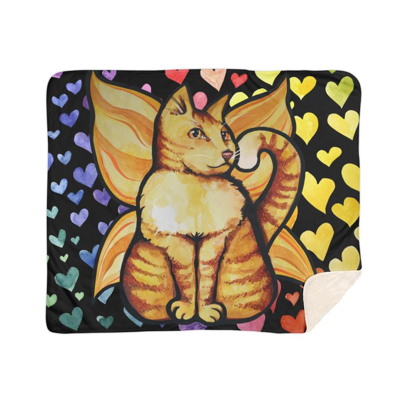 cat sìth fairy rainbow cats Home Blanket by BubbSnugg
