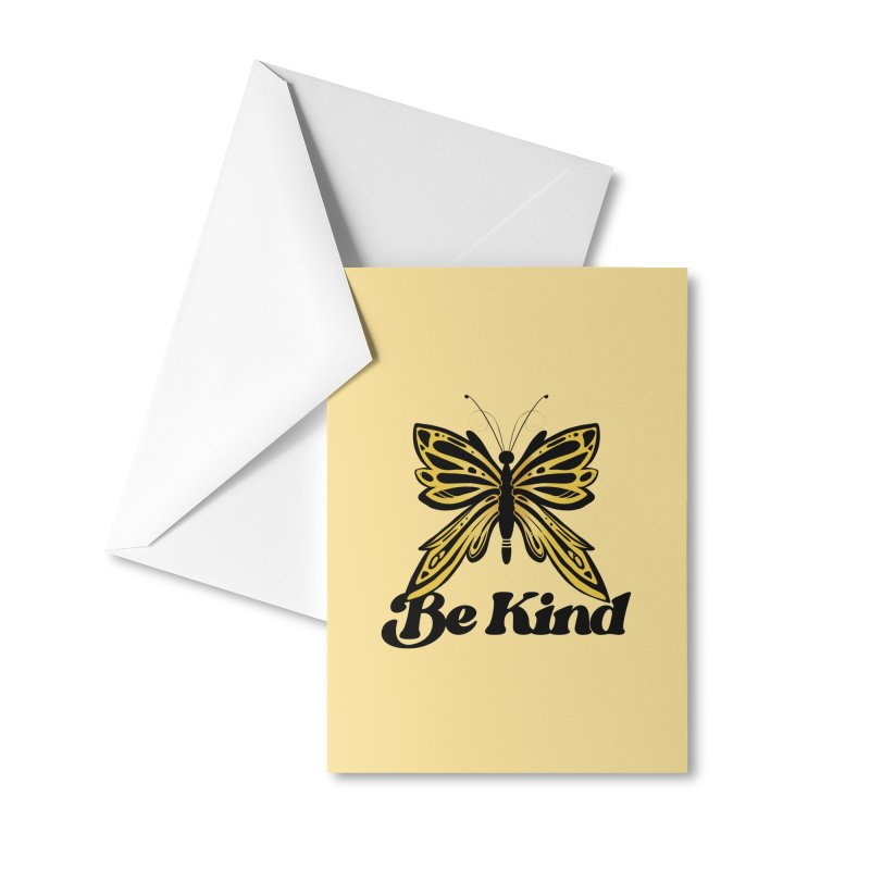 Be Kind Butterfly Accessories Greeting Card by BubbSnugg