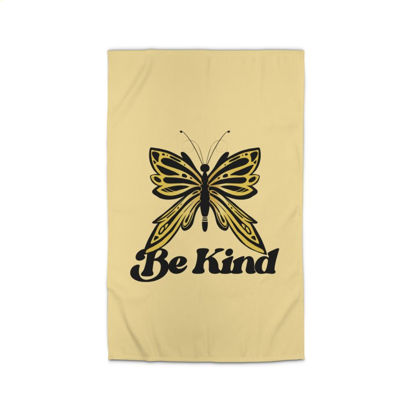 Be Kind Butterfly Home Rug by BubbSnugg