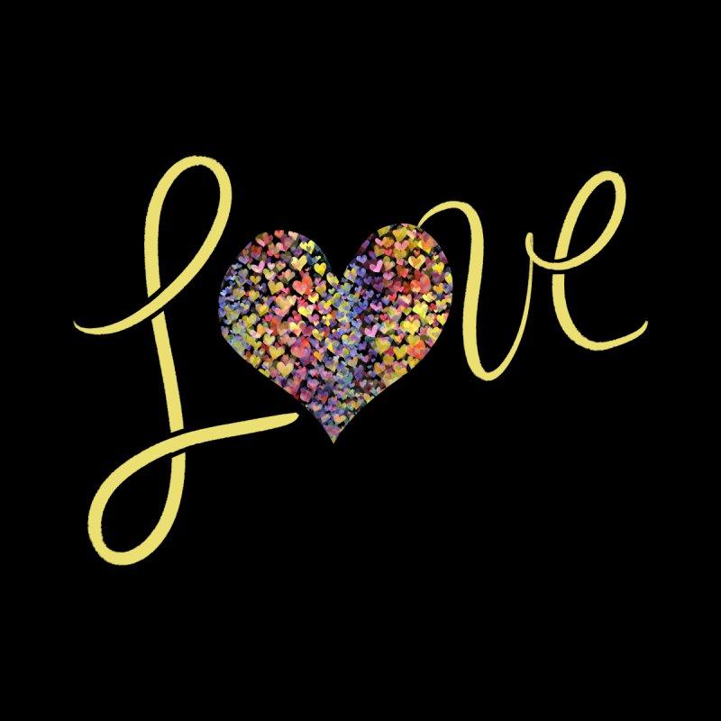 LOVE rainbow heart Home Blanket by BubbSnugg