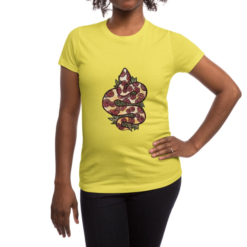 Floral Snake Women's T-Shirt by BubbSnugg