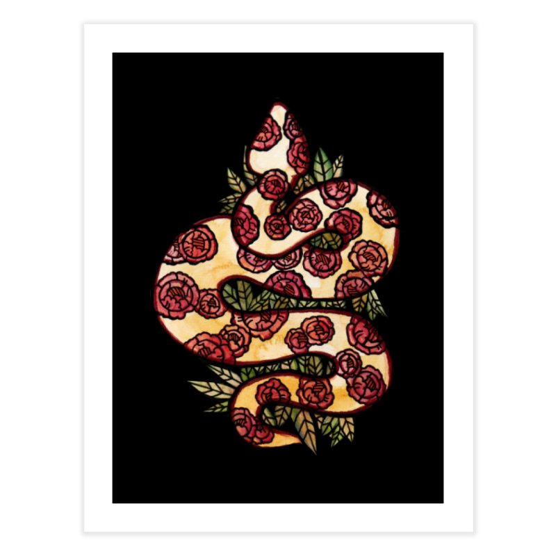Floral Snake Home Fine Art Print by BubbSnugg