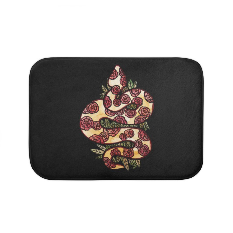 Floral Snake Home Bath Mat by BubbSnugg