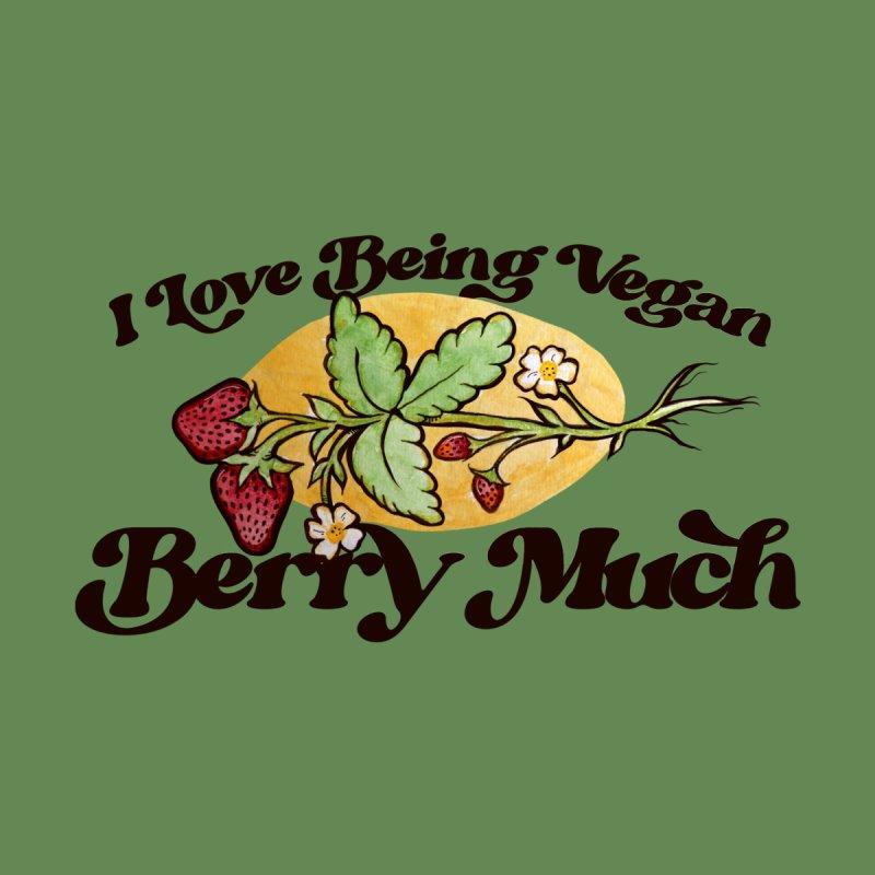 I love being vegan BERRY MUCH Men's T-Shirt by BubbSnugg