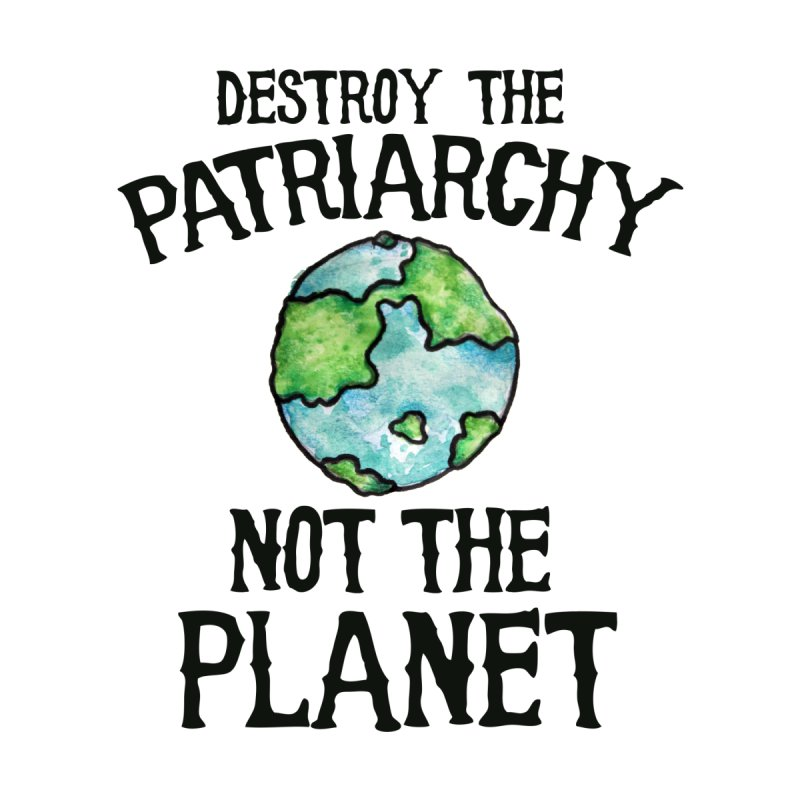 Destroy the Patriarchy not the Planet Women's V-Neck by BubbSnugg