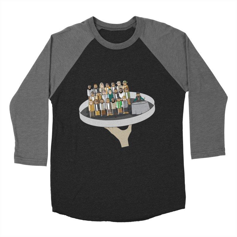 Line 'Em Up! Men's Baseball Triblend T-Shirt by Buckeen
