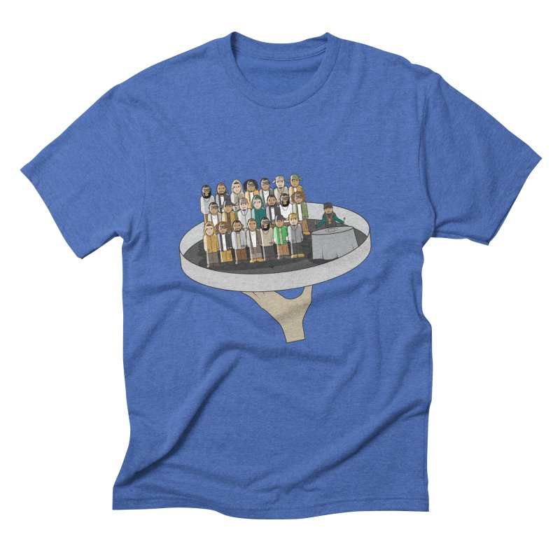Line 'Em Up! Men's Triblend T-shirt by Buckeen