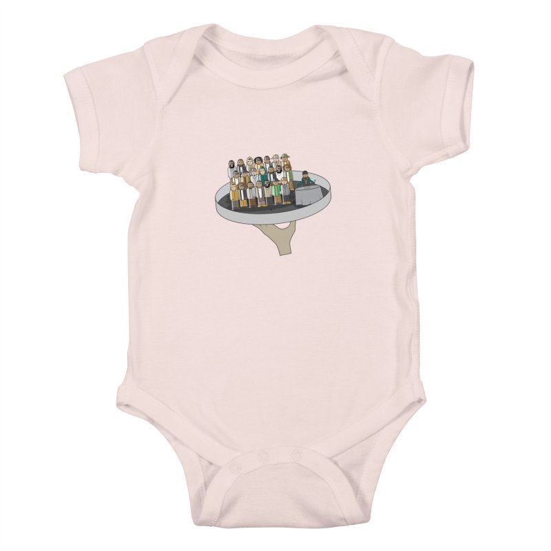Line 'Em Up! Kids Baby Bodysuit by Buckeen