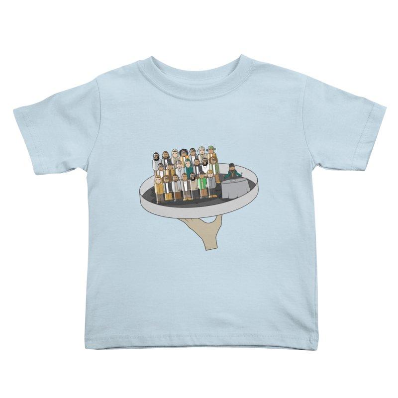 Line 'Em Up! Kids Toddler T-Shirt by Buckeen
