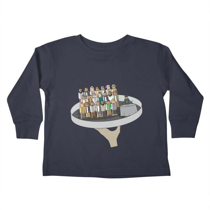Line 'Em Up! Kids Toddler Longsleeve T-Shirt by Buckeen
