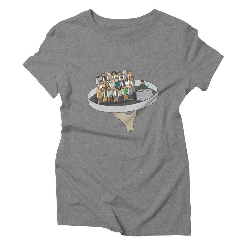 Line 'Em Up! Women's Triblend T-Shirt by Buckeen
