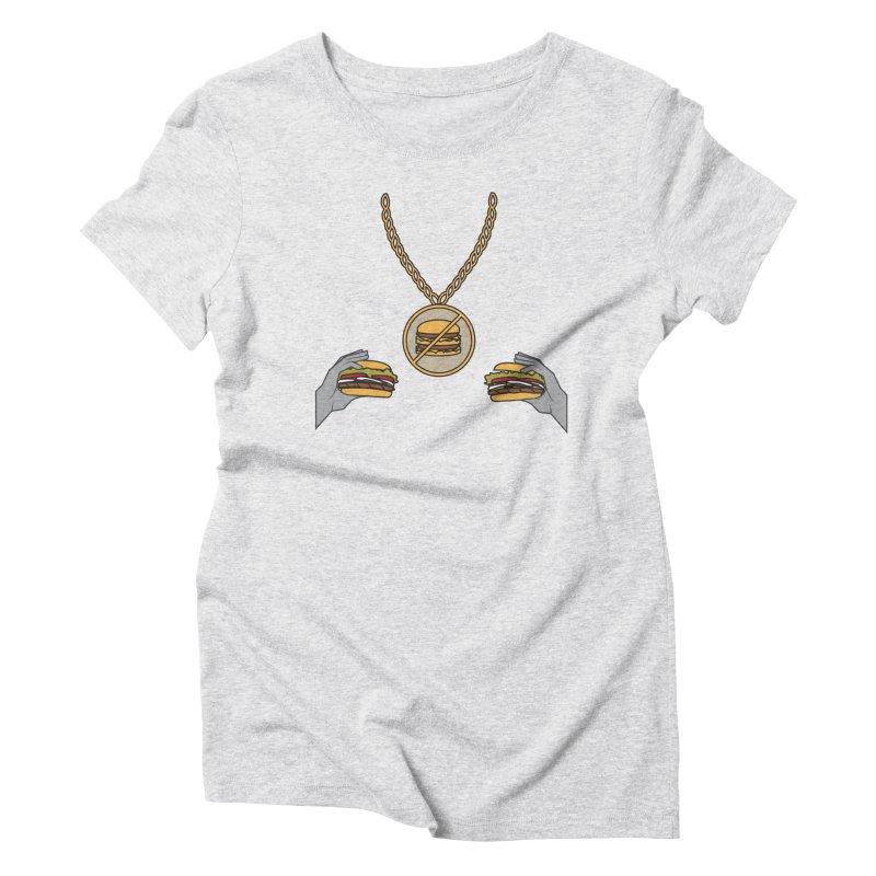 F da Big Mac! Women's Triblend T-Shirt by Buckeen