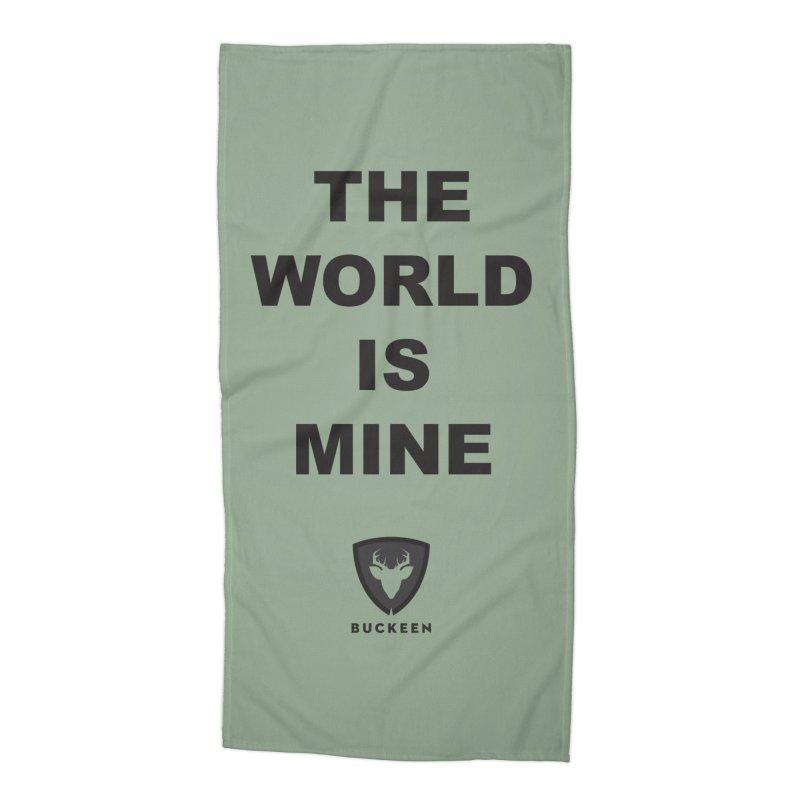 The World is Mine Accessories Beach Towel by Buckeen