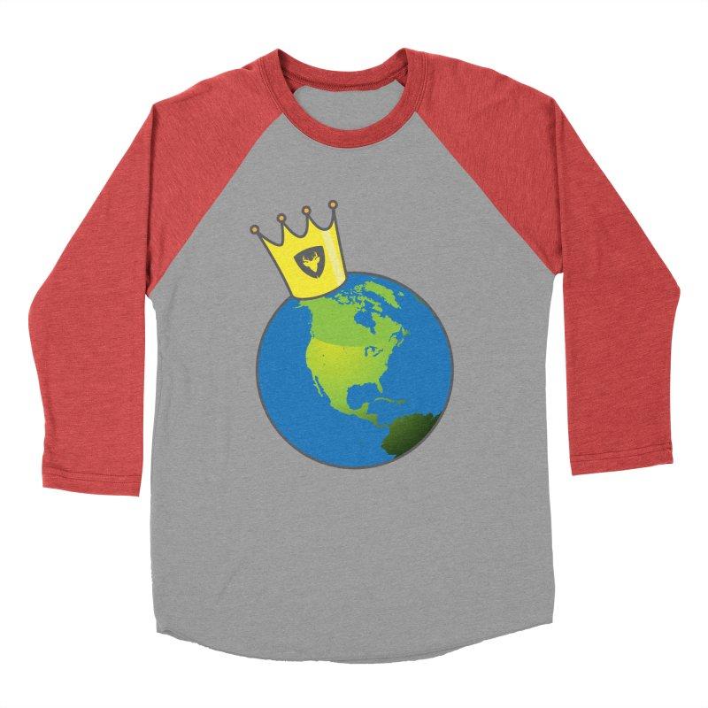 King of the World Men's Baseball Triblend T-Shirt by Buckeen