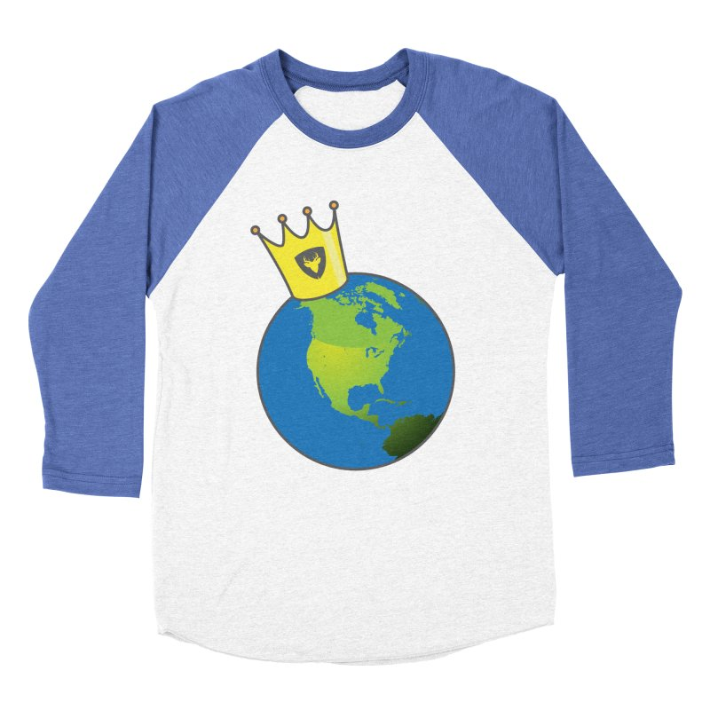 King of the World Men's Baseball Triblend T-Shirt by Buckeen
