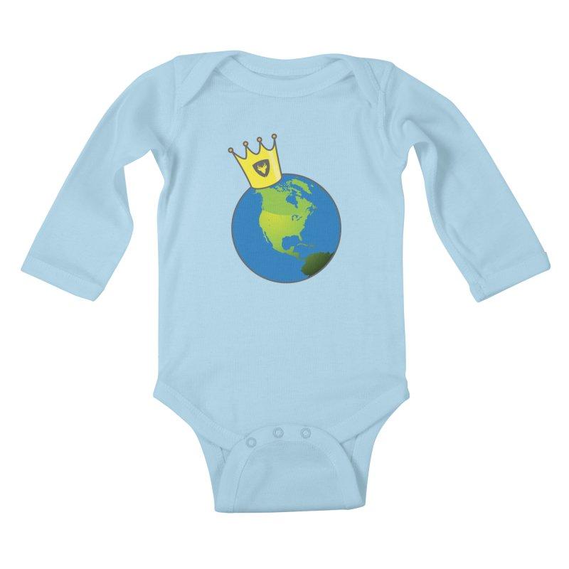 King of the World Kids Baby Longsleeve Bodysuit by Buckeen