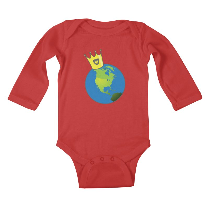 King of the World Kids Baby Longsleeve Bodysuit by Buckeen