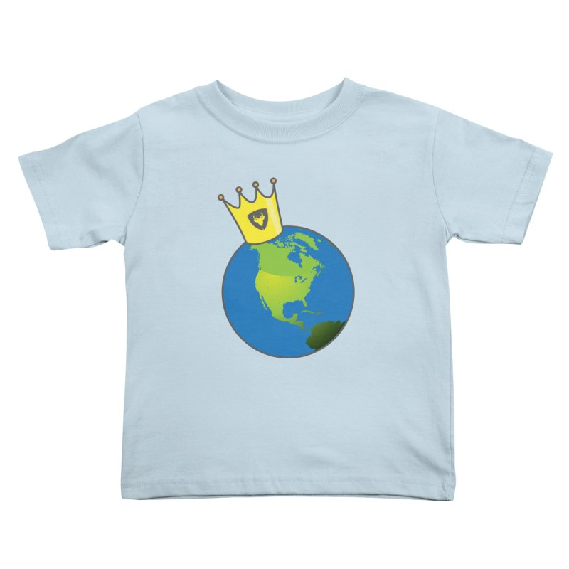 King of the World Kids Toddler T-Shirt by Buckeen