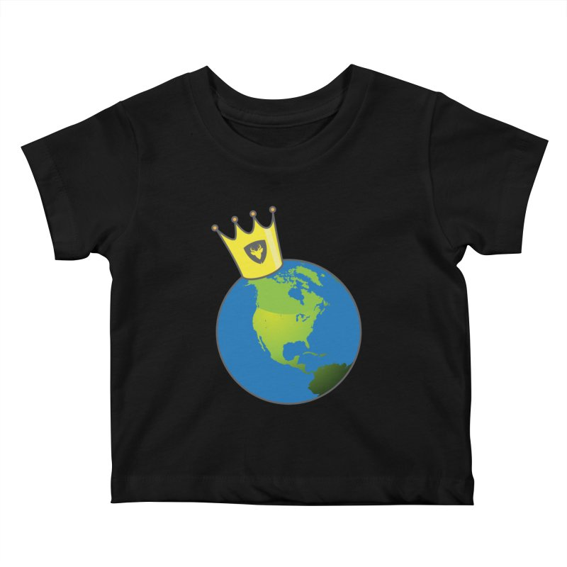 King of the World Kids Baby T-Shirt by Buckeen