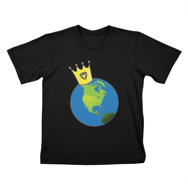 King of the World Kids T-Shirt by Buckeen