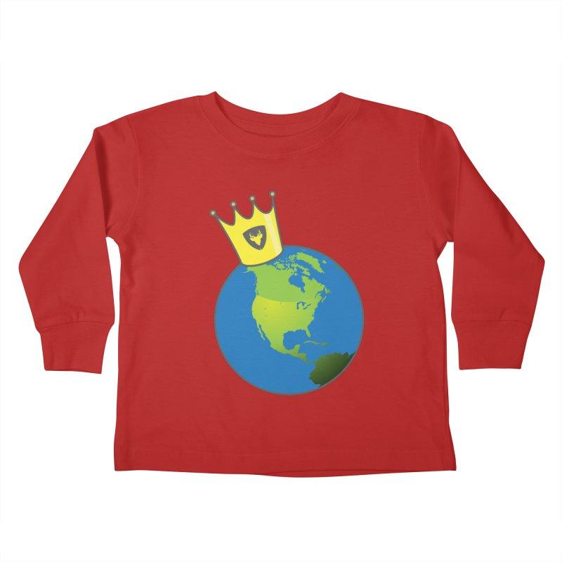 King of the World Kids Toddler Longsleeve T-Shirt by Buckeen