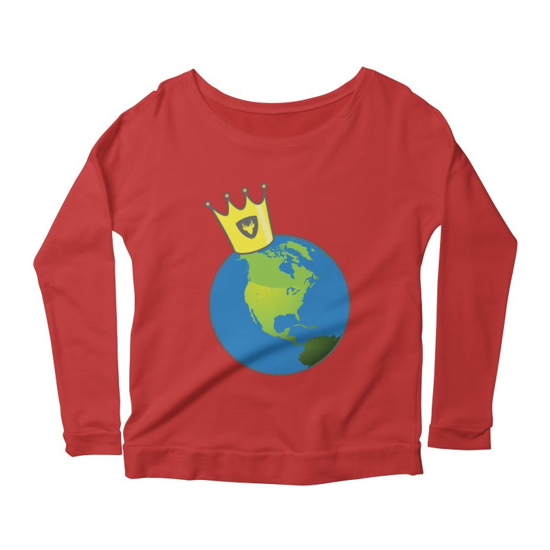 King of the World Women's Longsleeve Scoopneck  by Buckeen
