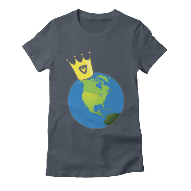 King of the World Women's Fitted T-Shirt by Buckeen