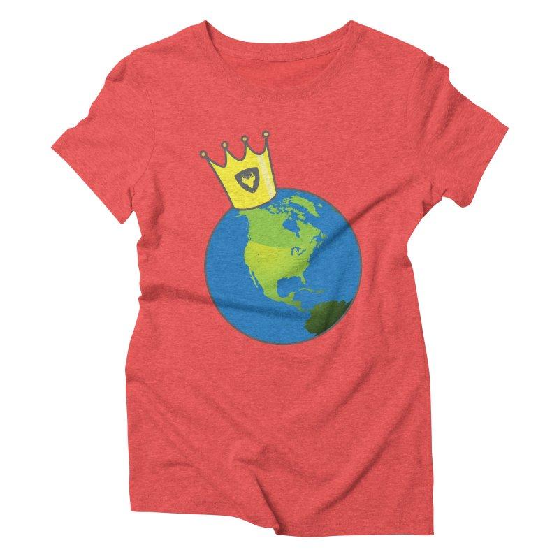 King of the World Women's Triblend T-Shirt by Buckeen