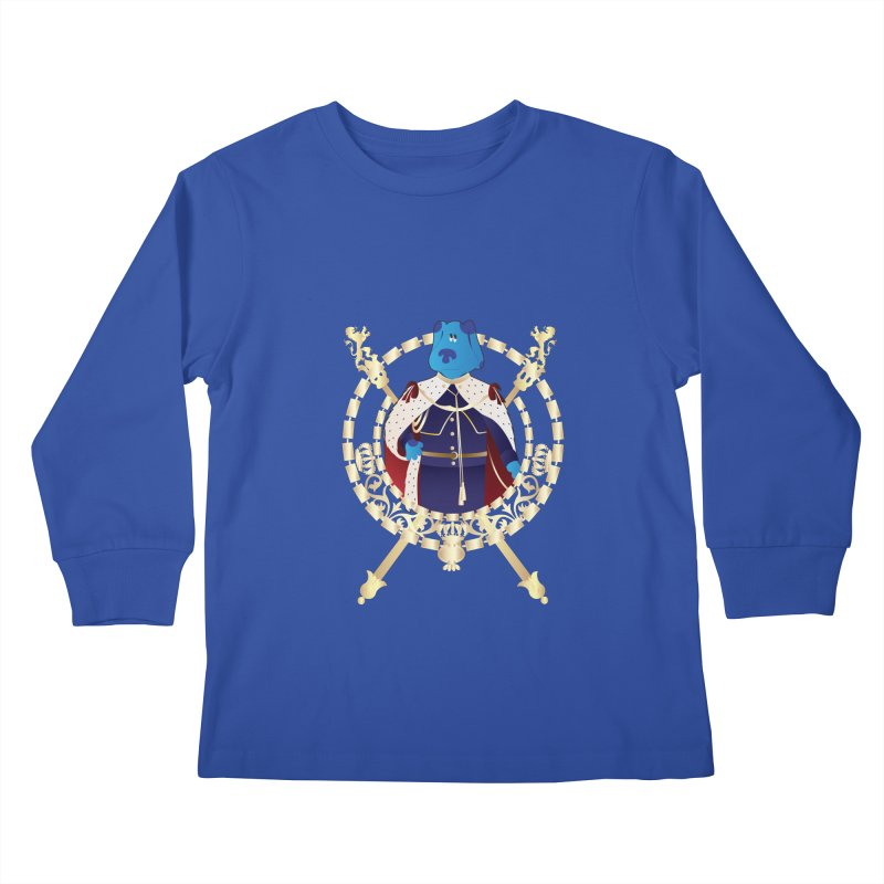 Royal Blue Kids Longsleeve T-Shirt by Buckeen