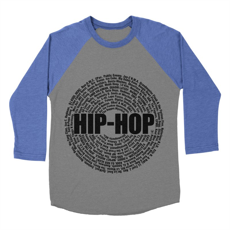 HIP HOP LEGENDS Men's Baseball Triblend Longsleeve T-Shirt by Buckeen
