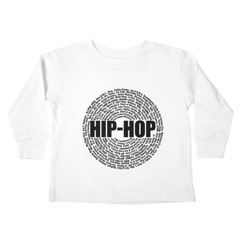 HIP HOP LEGENDS Kids Toddler Longsleeve T-Shirt by Buckeen