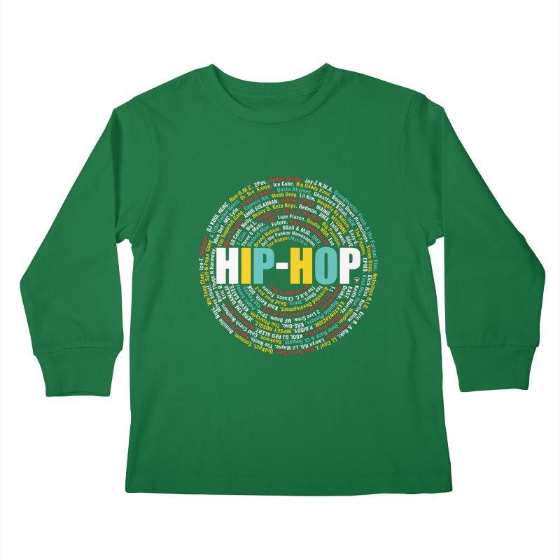 Hip-Hop, Legends, Mc's, Rap. Music Kids Longsleeve T-Shirt by Buckeen