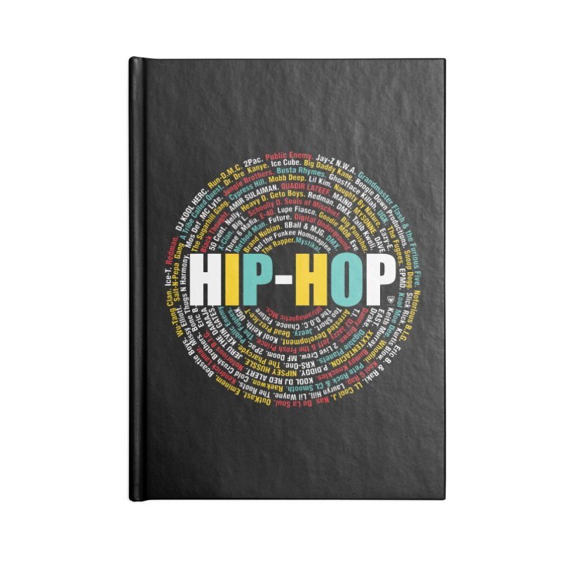 Hip-Hop, Legends, Mc's, Rap. Music Accessories Notebook by Buckeen