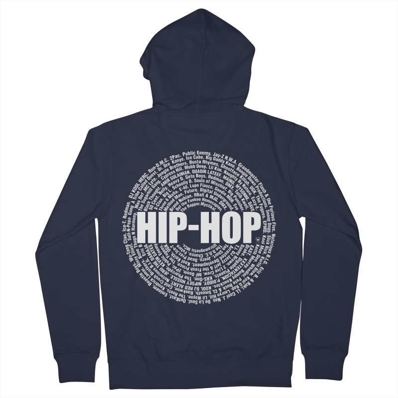 HIP-HOP SURROUNDED BY THE MC'S WHOSE ORBITED AND INFLUENCED THE CULTURE Women's French Terry Zip-Up Hoody by Buckeen
