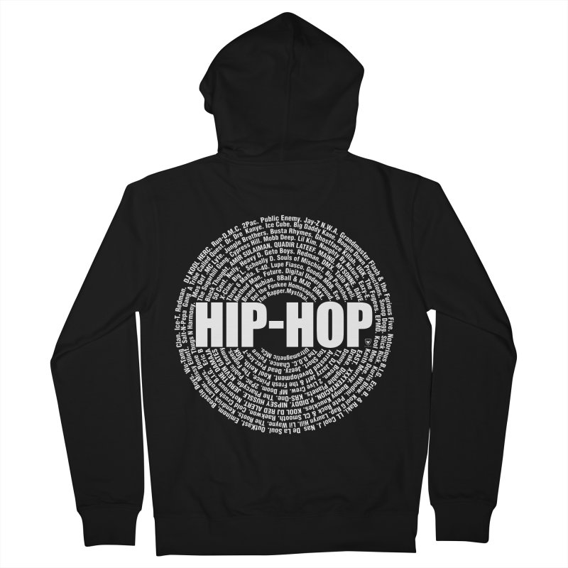 HIP-HOP SURROUNDED BY THE MC'S WHOSE ORBITED AND INFLUENCED THE CULTURE Men's French Terry Zip-Up Hoody by Buckeen
