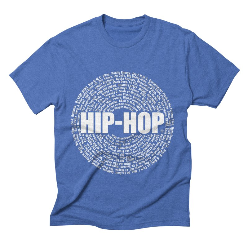 HIP-HOP SURROUNDED BY THE MC'S WHOSE ORBITED AND INFLUENCED THE CULTURE Men's Triblend T-Shirt by Buckeen