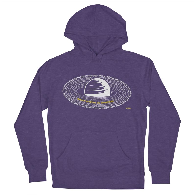 Rap Patterns Around Saturn Men's French Terry Pullover Hoody by Buckeen