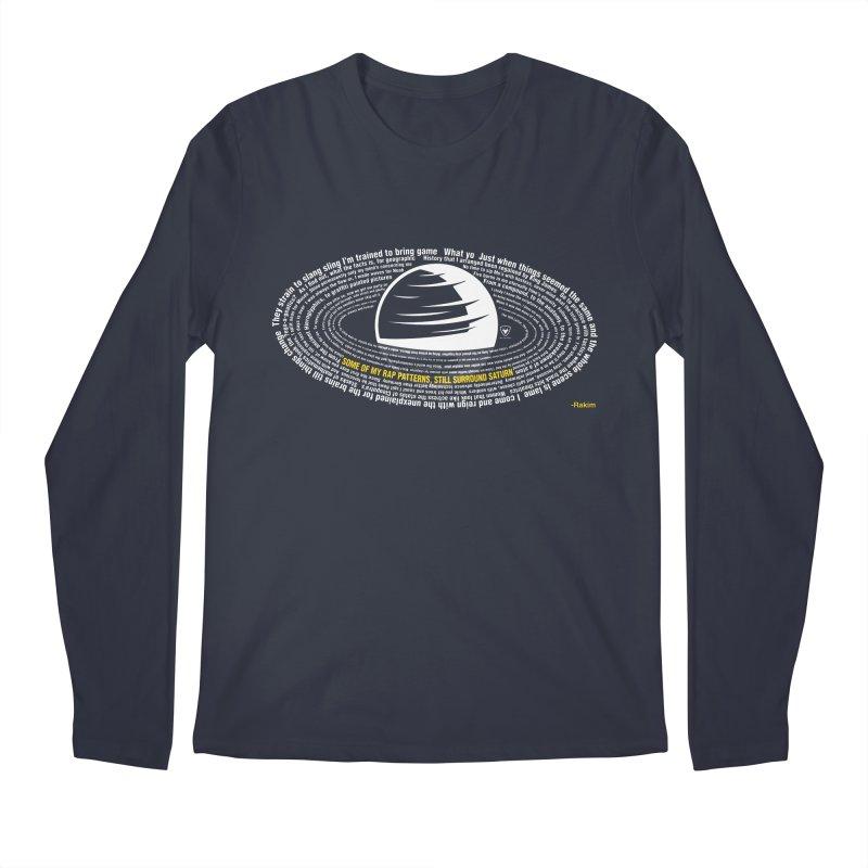 Rap Patterns Around Saturn Men's Regular Longsleeve T-Shirt by Buckeen
