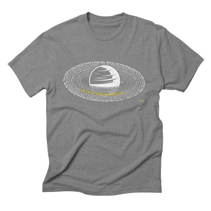 Rap Patterns Around Saturn Men's Triblend T-Shirt by Buckeen