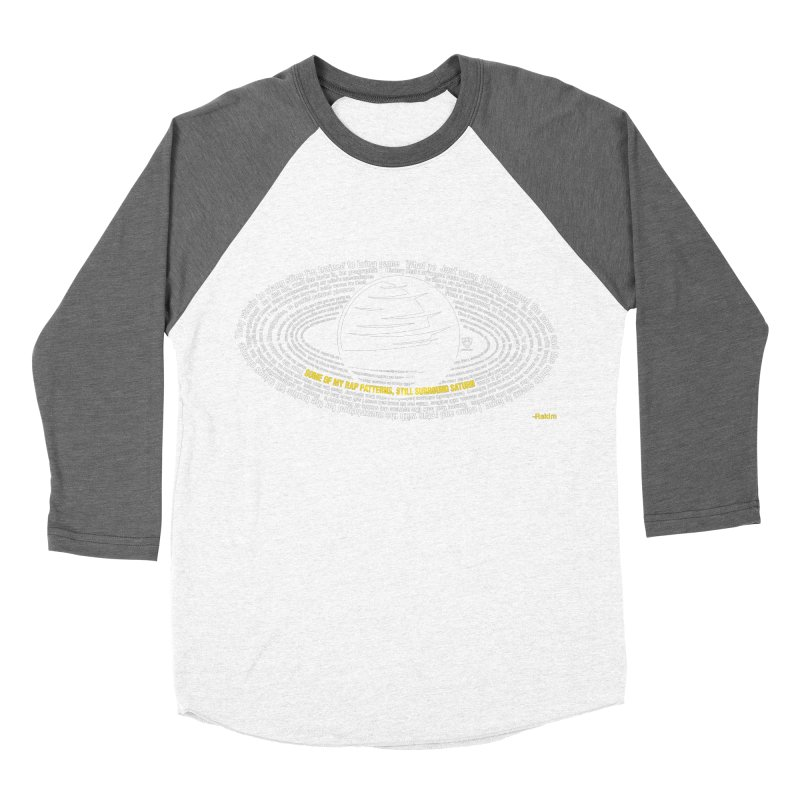 Rap Patterns Around Saturn Women's Baseball Triblend T-Shirt by Buckeen