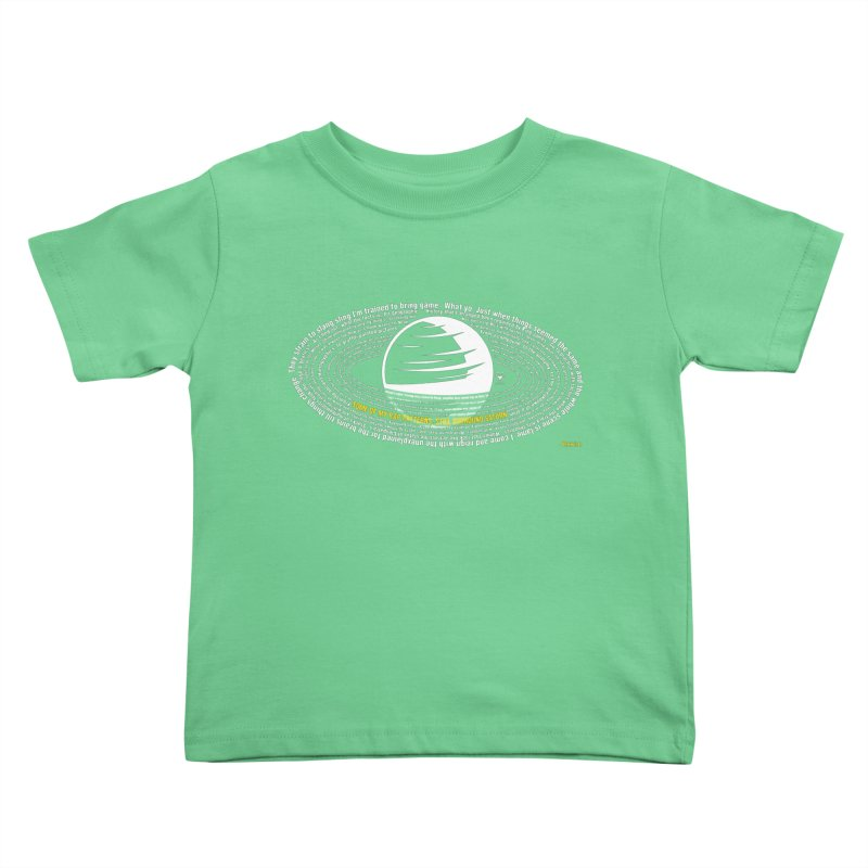 Rap Patterns Around Saturn Kids Toddler T-Shirt by Buckeen