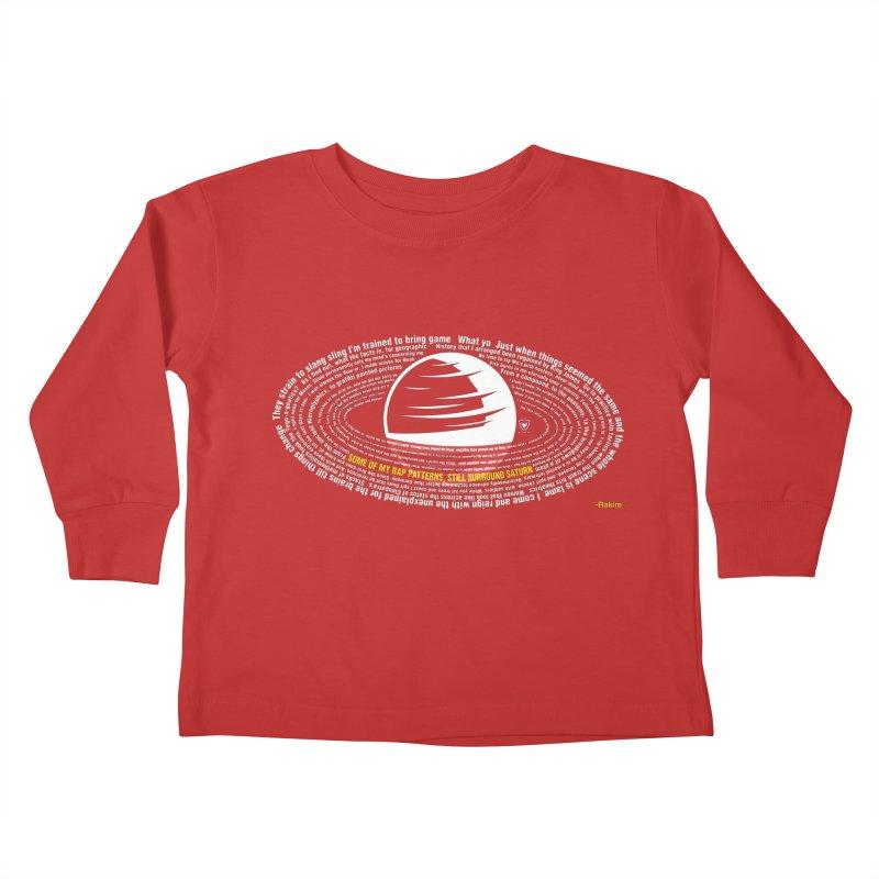 Rap Patterns Around Saturn Kids Toddler Longsleeve T-Shirt by Buckeen