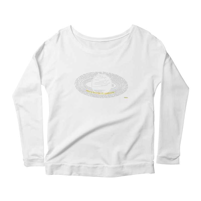 Rap Patterns Around Saturn Women's Scoop Neck Longsleeve T-Shirt by Buckeen