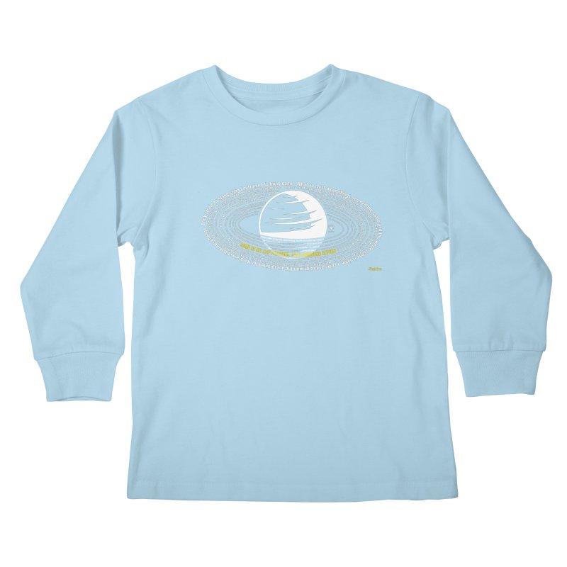 Rap Patterns Around Saturn Kids Longsleeve T-Shirt by Buckeen
